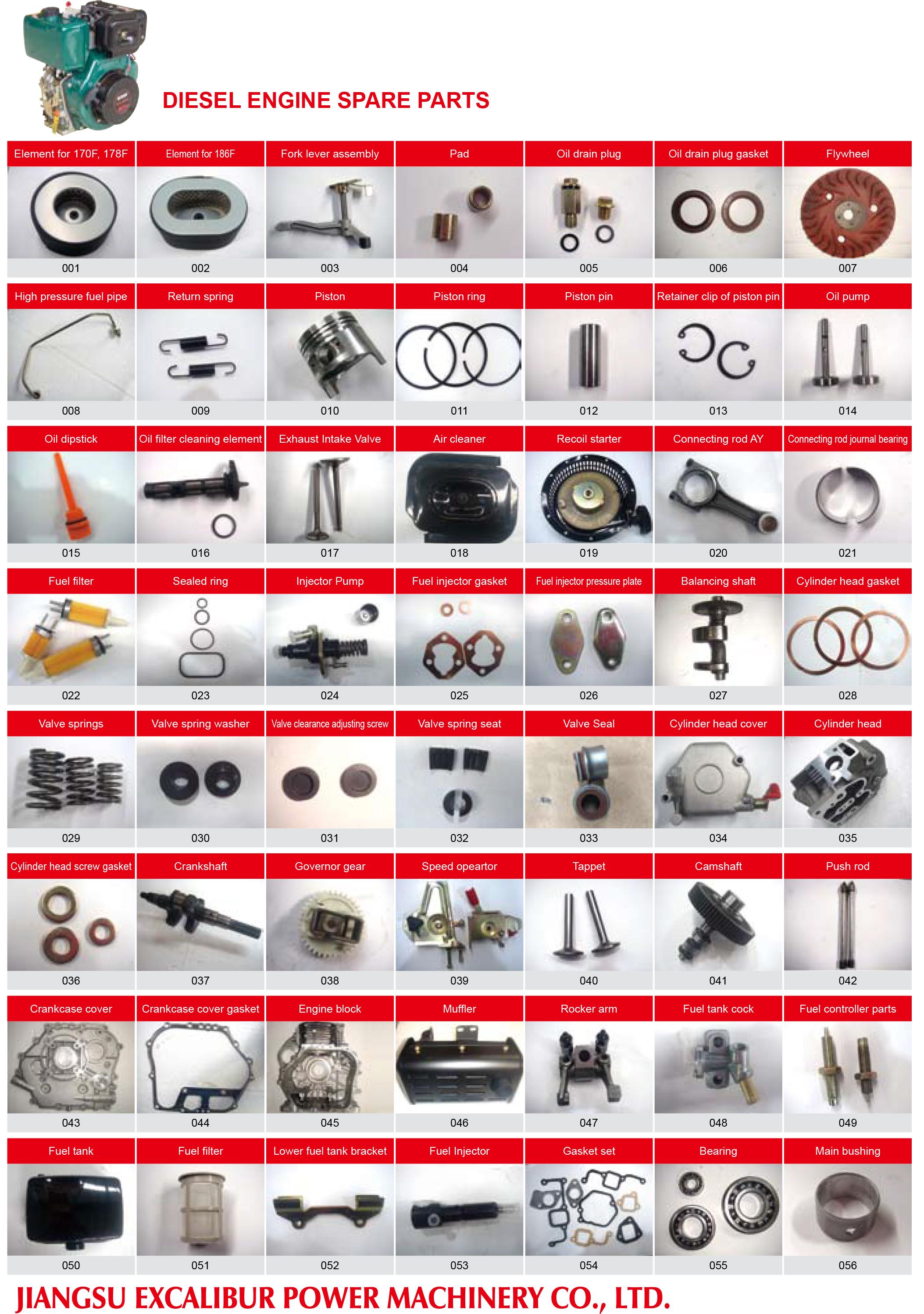 Diesel Engine Spare Parts_Jiangsu Excalibur