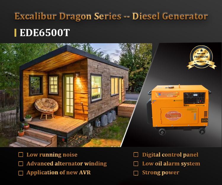EDE6500T SILENT DIESEL GENERATOR 5KW07