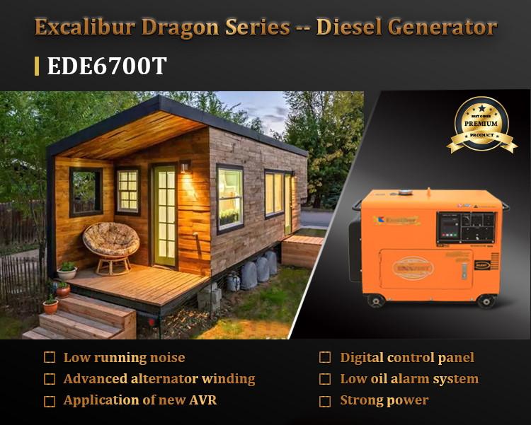 EDE6700T SILENT DIESEL GENERATOR 5KW07