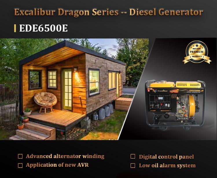 Ede6500e Open Frame Diesel Generator 4.5kw 5kw07
