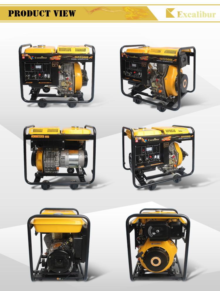 Ede6500e Open Frame Diesel Generator 4.5kw 5kw08