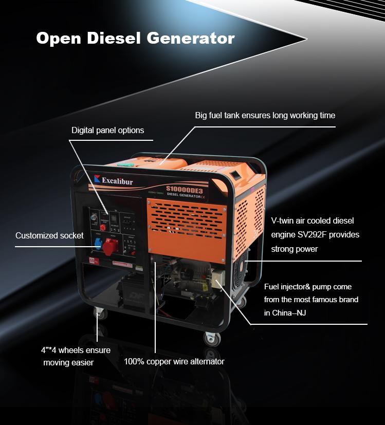Price Of 7kw 6.5kw Diesel Generator
